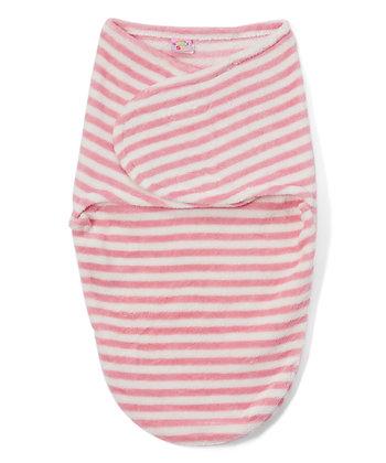 Pink Stripe Swaddle Blanket
