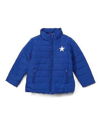 Blue Star Puffer Jacket - 2-4T
