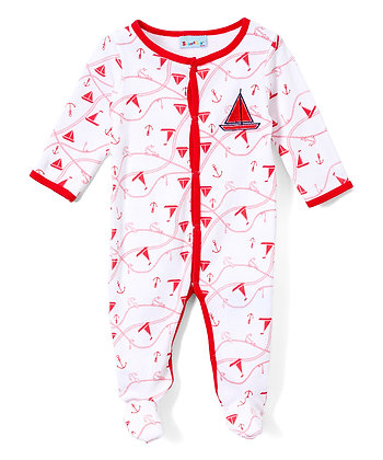 Sail Boats Footie - Preemie