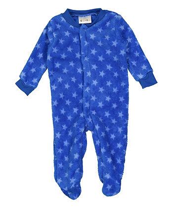 Blue Star Fleece Footie - 0-9M