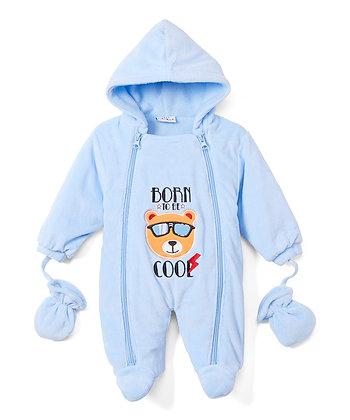 Light Blue Cool Bear Snowsuit - 0-9M