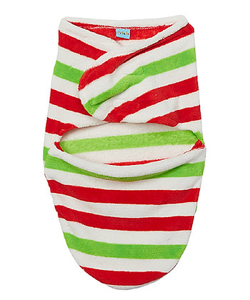 Red & Green Stripe Sleep Swaddling Blanket