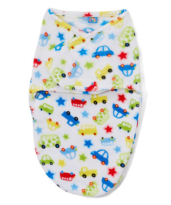 White Car Swaddle Blanket