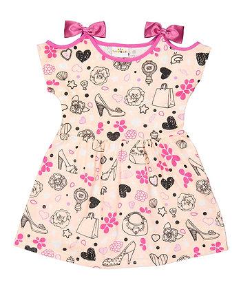Shopping Cold Shoulder Knit Dress - 2-4T