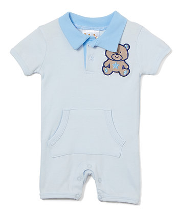 Knit Romper Bear - 0-12M