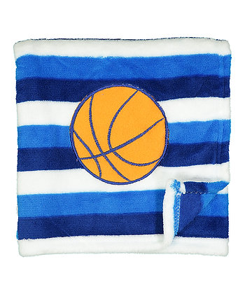 30'' x 40'' Blue Stripe Basketball Squeaking Stroller Blanket