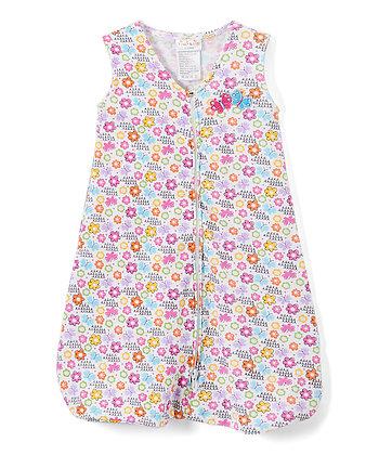 Pink & Blue Butterflies Wearable Blanket - 0-6M