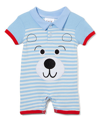 Knit Romper Puppy - 0-12M
