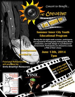 Flyer for One Stop Productions 2014