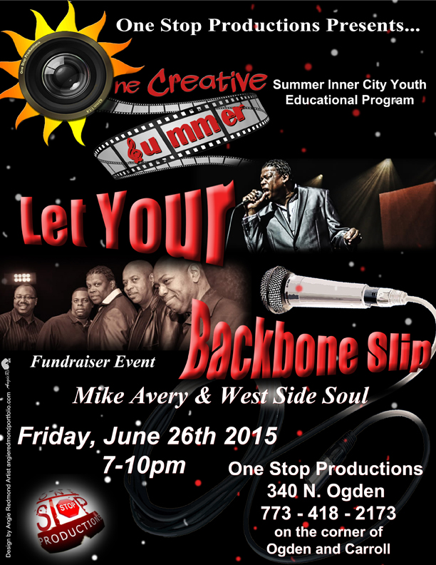 Flyer for One Stop Productions 2015