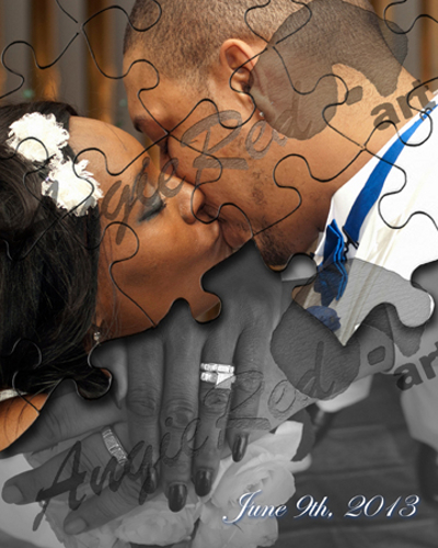 Wedding Photo Album_Puzzle Pieces