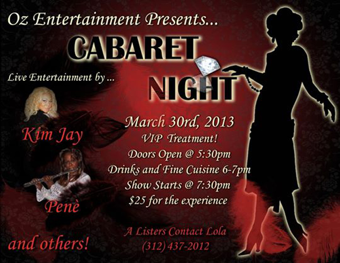 Flyer for Oz Entertainment