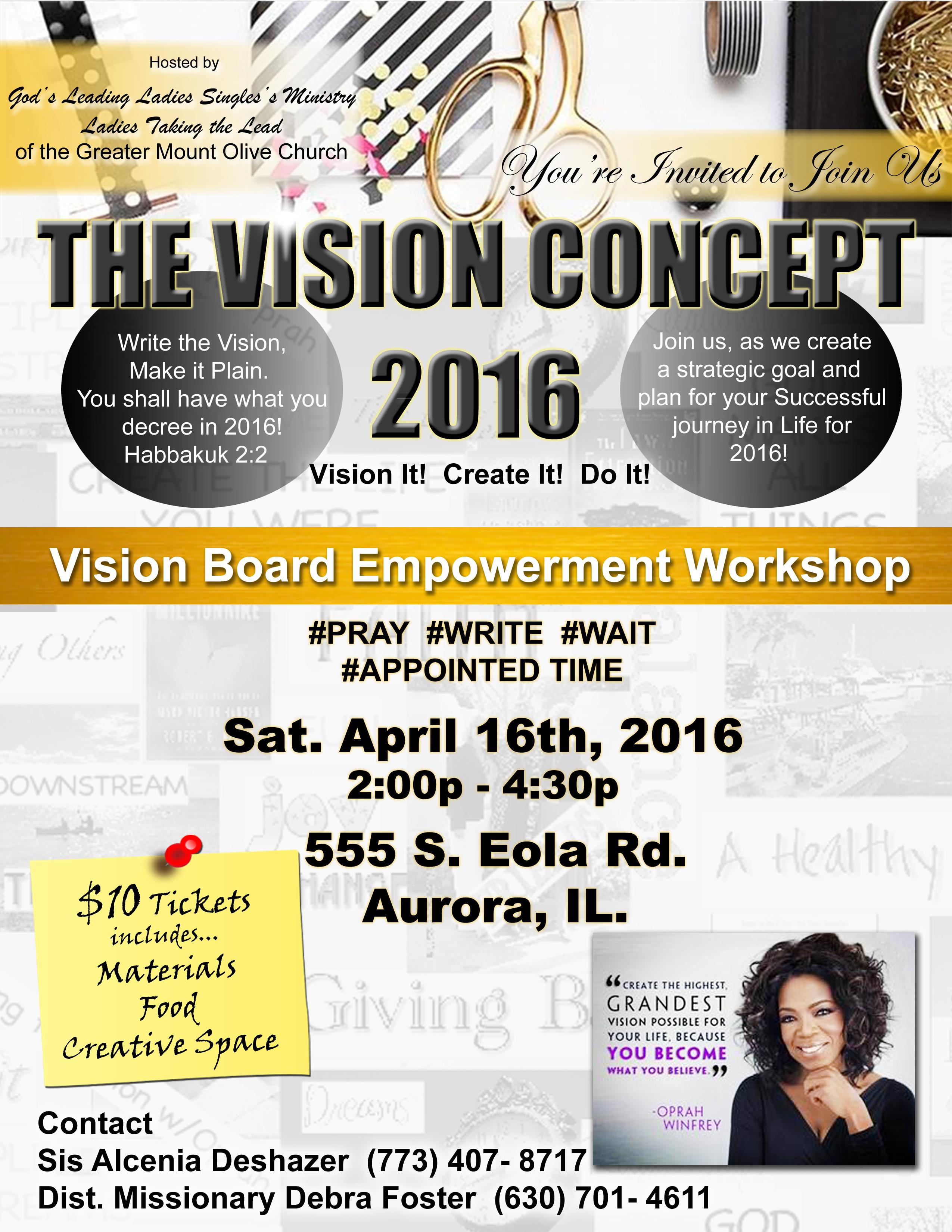 Vision Board Flyer