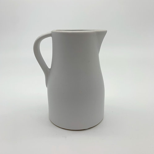 Flower Ceramic Jug White (HXZ001)
