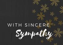 With Sincere Sympathy