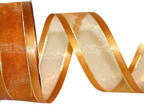 23mm Satin Edge Ribbon with Gold Lining (SGS15)