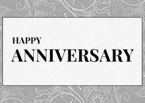 Grey Happy Anniversary