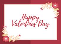 Happy Valentines Day with Border