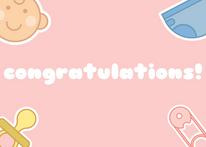 Light Pink Baby Congratulations