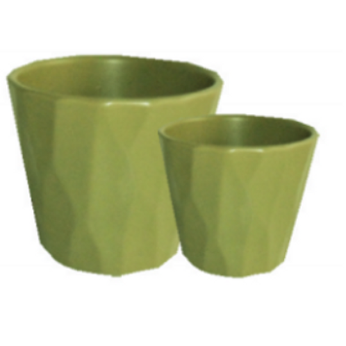 Lime Cone Pot Set