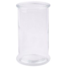 Recycled Vase: Clear Rim Cylinder