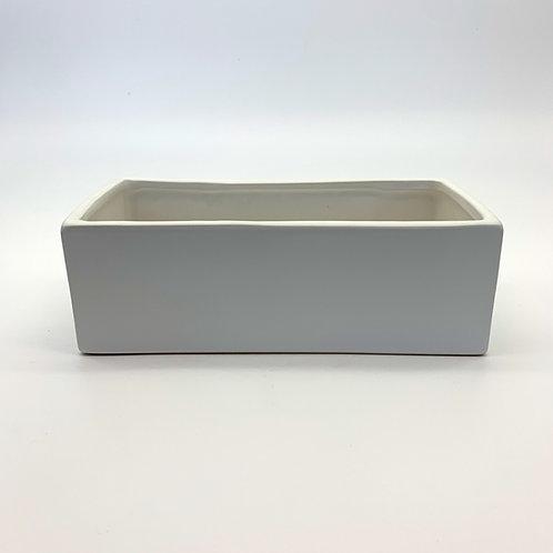 Rectangle Ceramic Pot White (HX99)