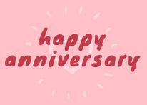 Pink Happy Anniversary
