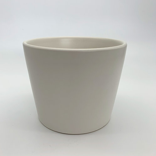 Cone Ceramic Pot White (HX13/XS12)