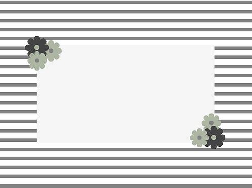 Grey Striped Border