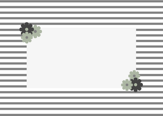 Grey Striped Border