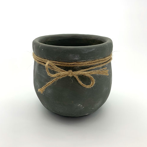 Cement Pot with Jupe Rope (HXZ66)