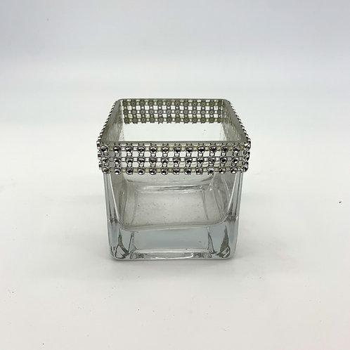 Square Crystal Rim Vase (WD8/8)
