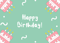 Teal Happy Birthday