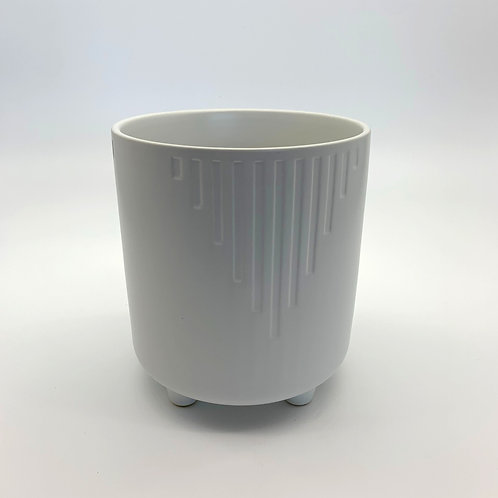 Cascade Ceramic Pot with Legs White (HXZ226L)