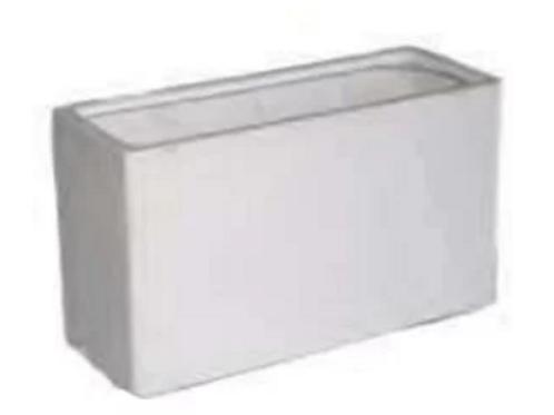 White Rectangle Pot