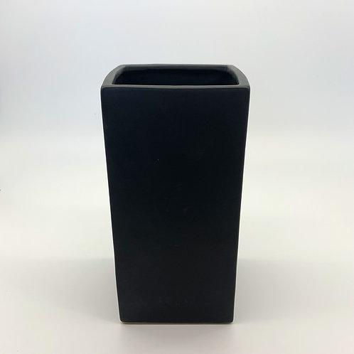Tall Square Black Ceramic Pot (HXS02,HXS03,HXS04,HXS05)