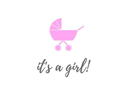 It's a Girl - Pram