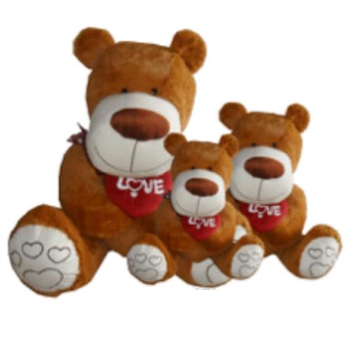 Dark Brown Bear Plush with Heart (PBD)