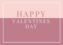 Two Tone Happy Valentines Day