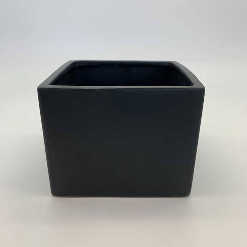 Square Ceramic Pot Black (HX09)