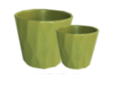 Cone Ceramic Pot Set Lime (HX881)