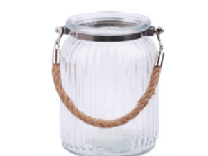 Recycled Vase: Hurricane Jar with Rope