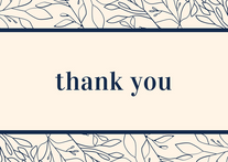 Thank you with Leaves