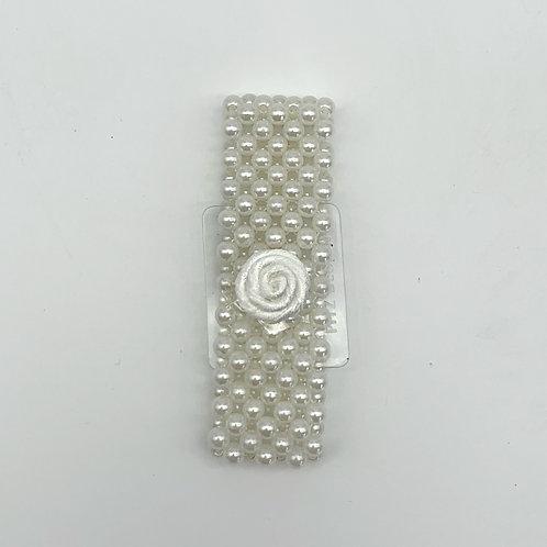Pearl Flower Corsage Bracelets White 2.5CM (PBSW)