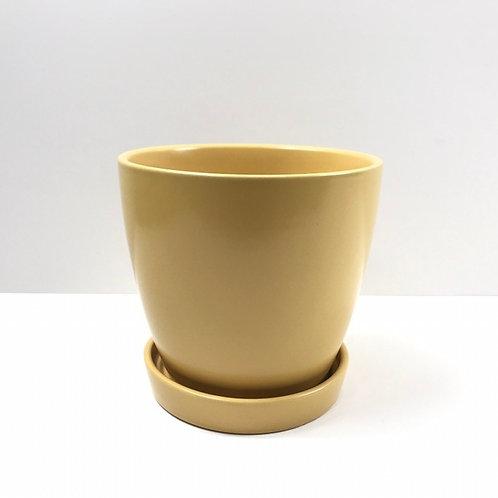 Jamie Ceramic Pot Mustard (HXZ639S/L)