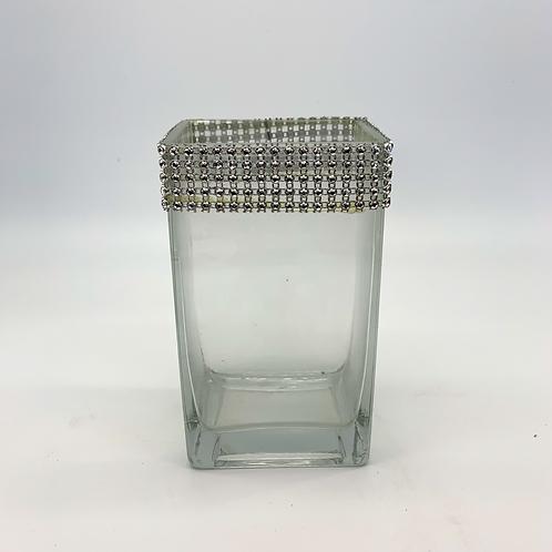 Rectangle Crystal Rim Glass Vase (WDR10/8,WDR10/18)