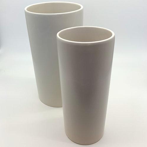 Cylinder Ceramic Pot Set White (HX5587)