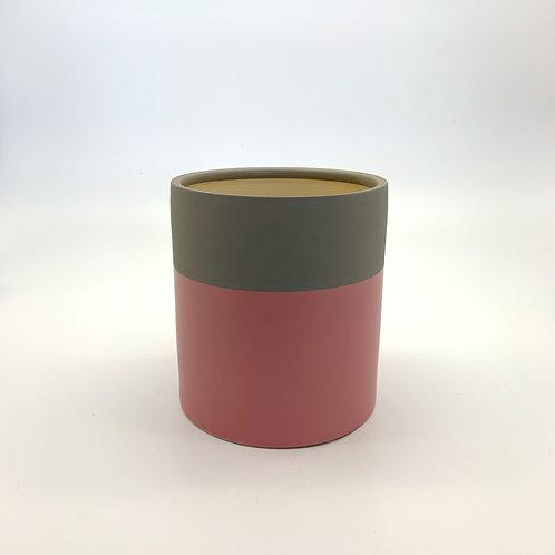 Colour Block Cylinder Cement/Pink (HXZ868CP)