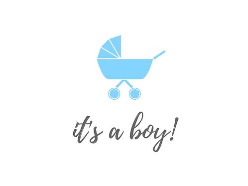 It's a Boy - Pram
