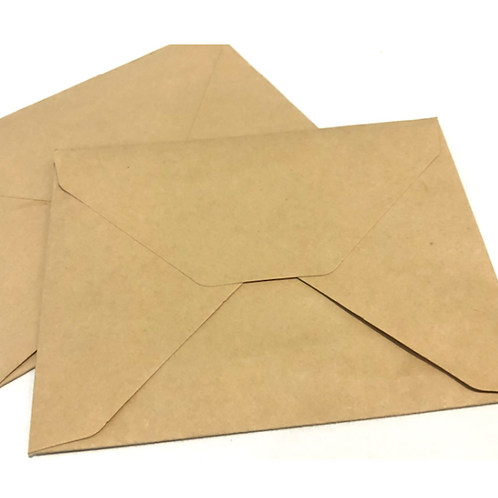 Natural Envelopes with Adhesive